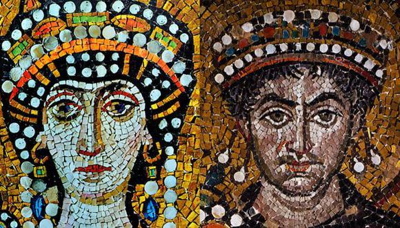 Se dice que él -a la derecha- se enamoró de ella ella -a la izquierda- y la hizo su amante porque era una mujer ingeniosa e inteligente.