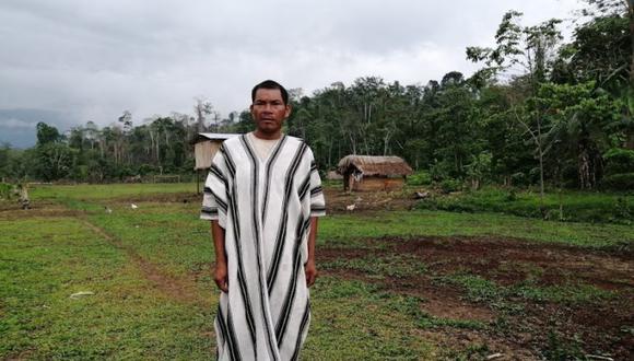 El jefe del anexo de Boca Pachiri también ha recibido amenazas de los invasores. Esto comenzó en el 2017, cuando llegaron y se instalaron para sembrar ilegalmente hojas de coca. Foto: Vanessa Romo / Mongabay Latam