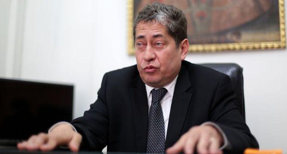 Magistrado Eloy Espinosa-Saldaña dijo que él no es la persona a quien Nadine Heredia llama 'Ojitos' en sus agendas. (Foto: Archivo El Comercio)