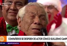 Guillermo Campos: artistas se despiden con emotivos mensajes