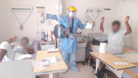 Ica: pacientes con COVID-19 reciben terapia con música en vivo (Foto: hospital regional Ica)