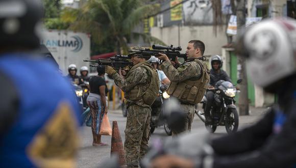 La policía militar de Río de Janeiro realizó una operación en una favela, logrando incautar dos toneladas de droga. (Foto: AFP/archivo)