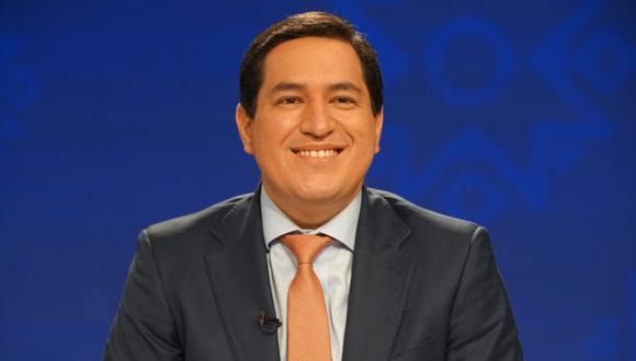 El candidato presidencial ecuatoriano Andrés Arauz participa en un debate televisado, en Guayaquil, Ecuador. (Foto: Consejo Nacional Electoral de Ecuador / Folleto vía REUTERS ATENCIÓN).