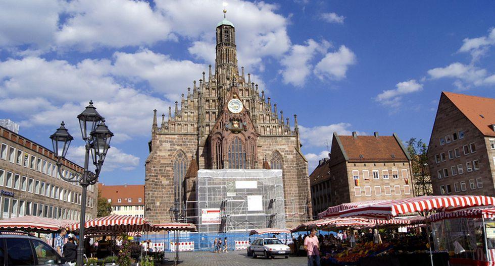 La iglesia de Nuestra Señora de Núremberg, Alemania. (Foto: Marcus Bölt / Flickr)