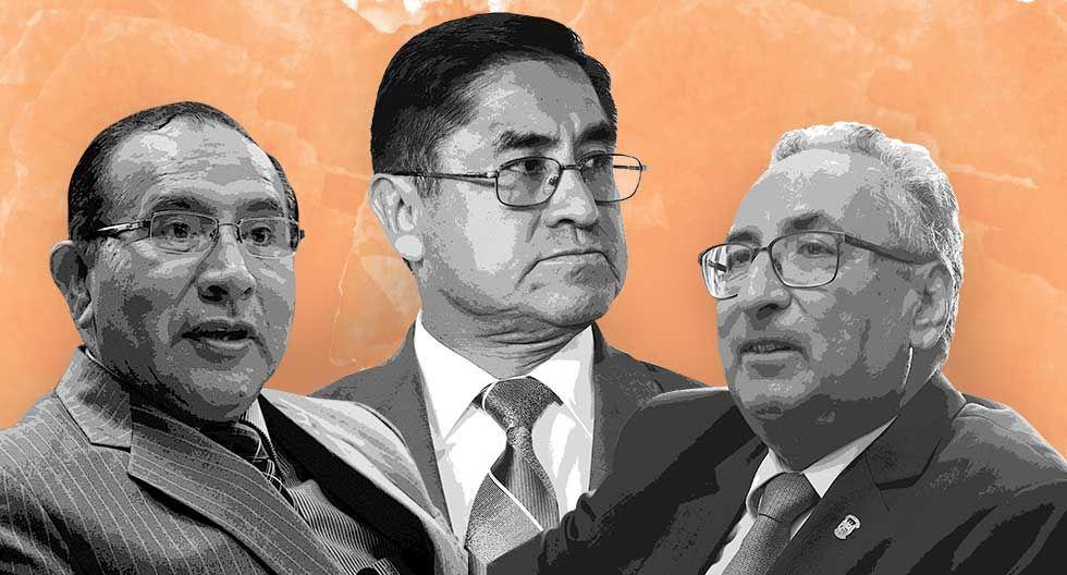 Víctor Ticona (izq.), César Hinostroza (cen.) y José Luis Lecaros (der.). (Composición: El Comercio)