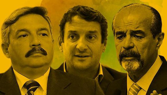 Alberto Beingolea, Renzo Reggiardo y Mauricio Mulder recibieron importante respaldo de los electores, pero no podrán representar a Lima en el Congreso porque sus respectivos partidos no pasaron la valla electoral. (Composición: El Comercio)