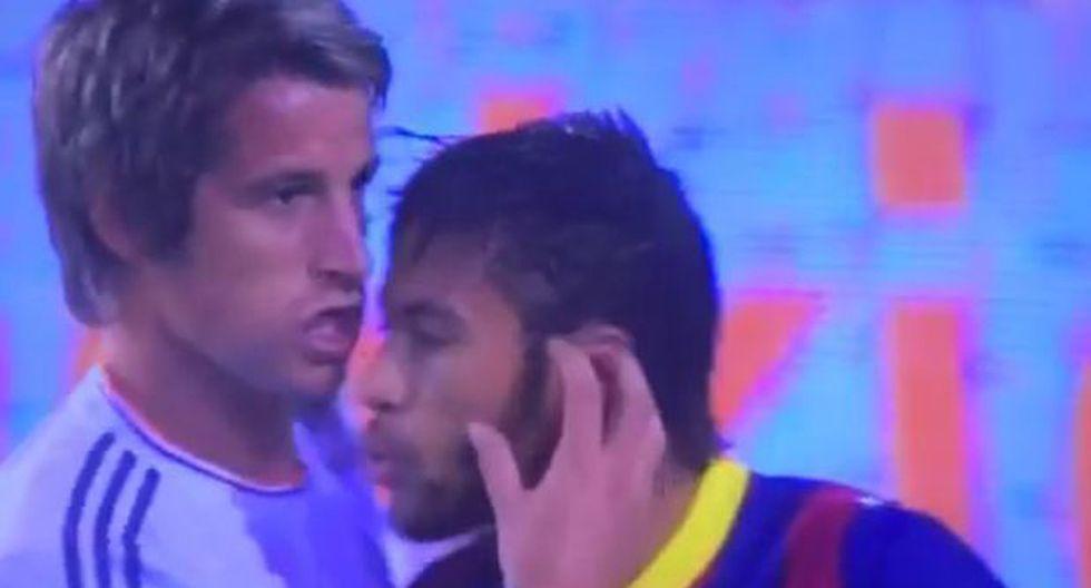 Neymar casi pierde los papeles e intentó agredir a Coentrao