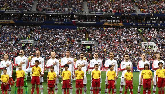 El himno de Croacia se escuchó por primera vez en una final de un Mundial. Así sonó en Rusia 2018. (Autor: FIFA. Fuente: DirecTV Sports. Foto: AFP)