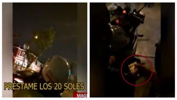 PNP informó que se investiga el caso para poder identificar al agente que aparece en el video. (Captura: BDP)