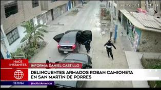 SMP: ladrones encañonaron a conductor para robarle su camioneta