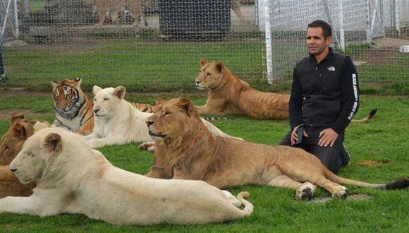 Eduardo Serio, protagonista del video donde un leopardo intentó atacarlo, posee una fundación de ayuda a felinos grandes. (Foto: Difusión)