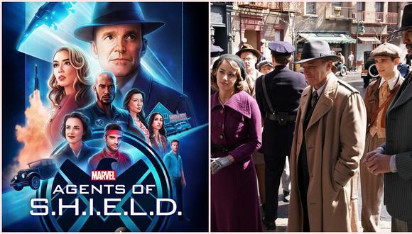 """Detalle del póster y foto promocional de """"Agents of SHIELD"""" temporada 7, la última misión de Phil Coulson (Clark Gregg), Daisy Johnson (Chloe Bennet) y los demás agentes. Foto: ABC."""