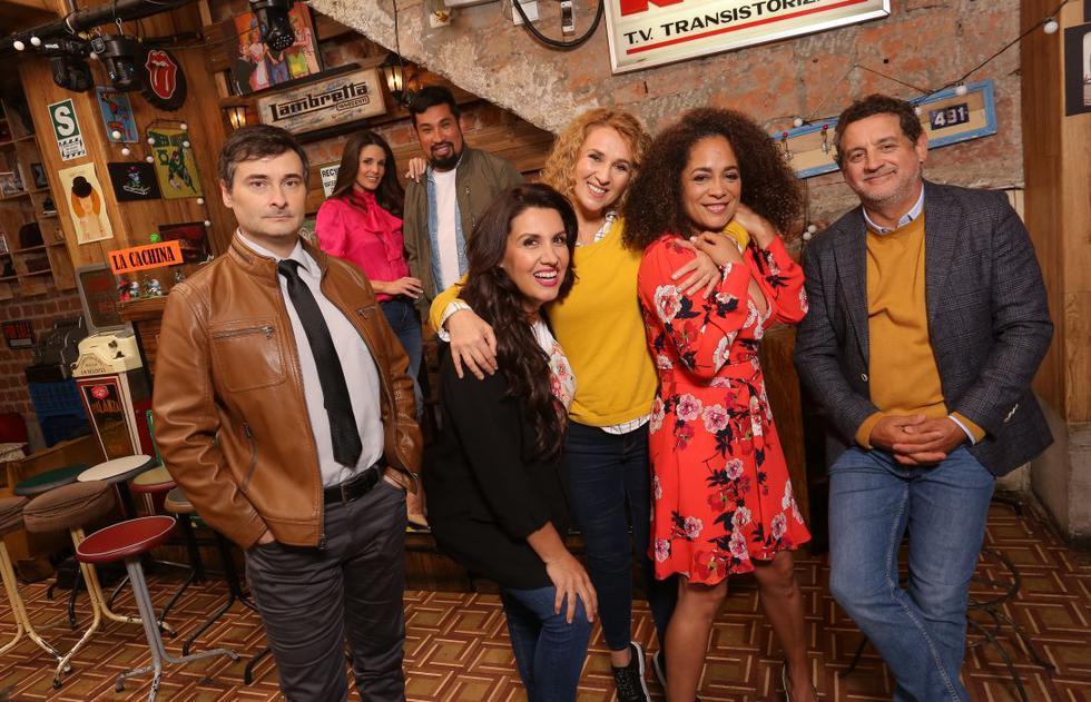 El elenco principal está compuesto por  Leonardo Torres Vilar, Rebeca Escribens, Aldo Miyashiro, Patricia Portocarrero, Katia Condos, Ebelin Ortiz y Sergio Galliani. (Foto: Victor Idrogo)
