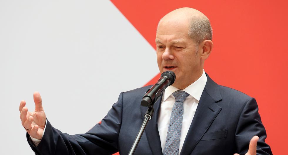 Olaf Scholz y el SPD se llevaron la elección por una mínima diferencia con respecto al segundo puesto. Bloomberg.