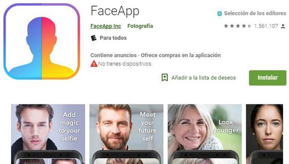 Tras acusaciones contra FaceApp, señalan que esta aplicación no es la única que manipula los datos de sus usuarios. (Foto: captura)
