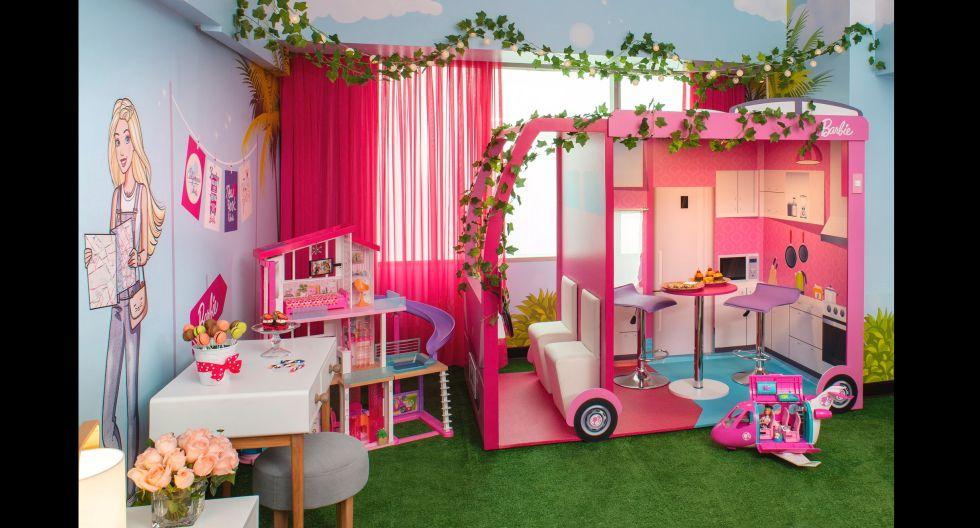 El Barbie Room de Marriott, cuenta además con una zona de juegos para sus pequeñas huéspedes, repleto de juguetes como la casa de la Barbie, el avión, la camioneta, y hasta una pequeña área de escritorio. (Foto: JW Marriott)