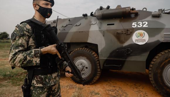 Un militar miembro de la Fuerza de Tarea Conjunta (FTC), encargados de luchar contra la guerrilla Ejército del Pueblo Paraguayo (EPP). (Foto: EFE/ Nathalia Aguilar/Archivo).