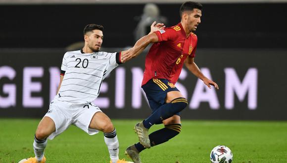 España igualó en su visita a Alemania por la Liga de Naciones