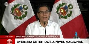 Coronavirus en Perú: 882 detenidos ayer domingo por no acatar restricción de tránsito