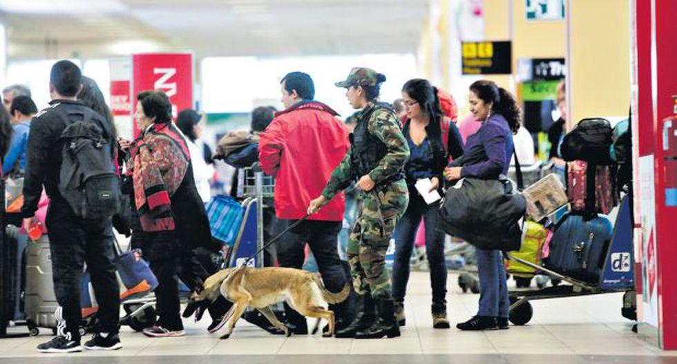 Droga en el Jorge Chávez: este año se decomisaron más de 900 kg