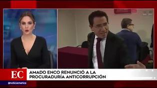 Amado Enco renunció a la Procuraduría Anticorrupción