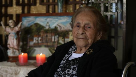 Graciela Ángeles era alcaldesa encargada de Yungay cuando ocurrió el terremoto de 1970. Perdió a su esposo, pero sobrevivió a la tragedia junto a sus tres hijos (Foto: Johnny Aurazo).