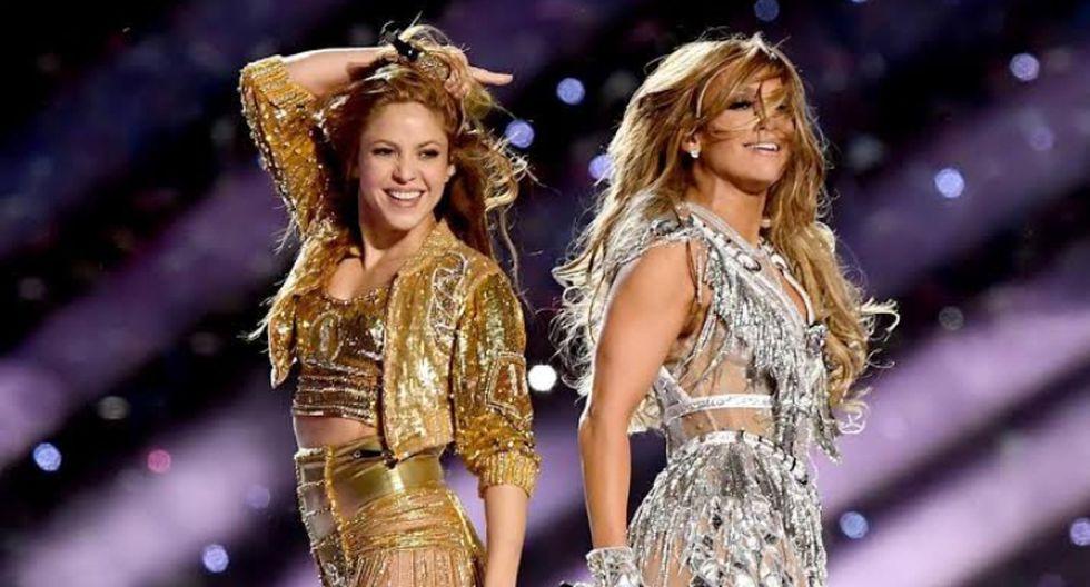 Shakira y Jennifer Lopez fueron las encargadas de poner la cuota musical en el entretiempo del Super Bowl.