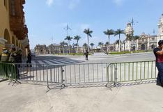 Tres congresistas pidieron al ministro del Interior que se retire rejas que mantienen cerrada la Plaza Mayor de Lima