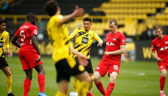 Borussia Dortmund y RB Leipzig se miden este jueves por la Copa de Alemania 2021. (Foto: AFP)