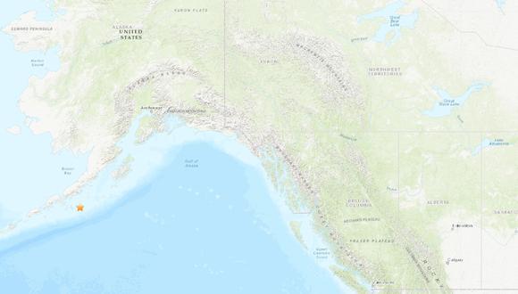 Terremoto de magnitud 7,8 en Alaska provocó una alerta de tsunami. (USGS).