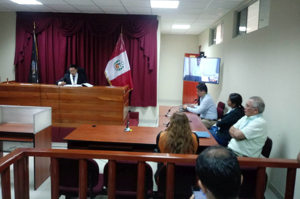 Así se realizó la audiencia contra César Álvarez. (Foto: Laura Urbina)
