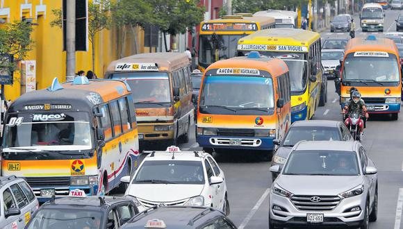 El Ministerio de Transporte y Comunicaciones aprobó los lineamientos sectoriales para la adecuación y reanudación de los servicios de transporte. (Foto: Alonso Chero/GEC)