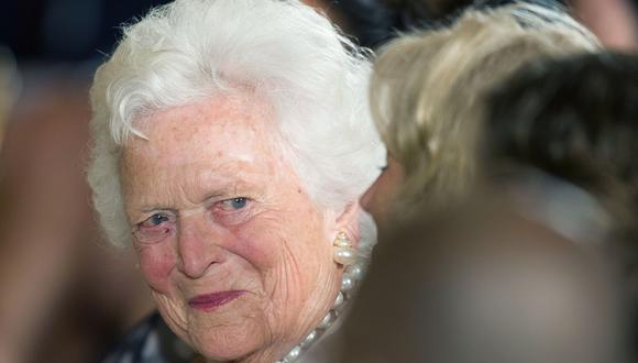Ex primera dama estadounidense Barbara Bush está grave de salud. (Foto: AFP)