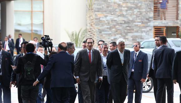 El presidente de la República, Martín Vizcarra, ingresando al CADE Ejecutivos 2018.