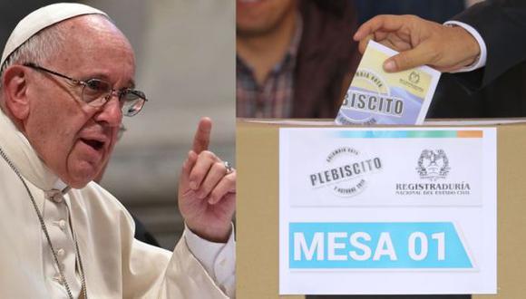 Francisco dijo que viajaría a Colombia solo si ganaba la paz