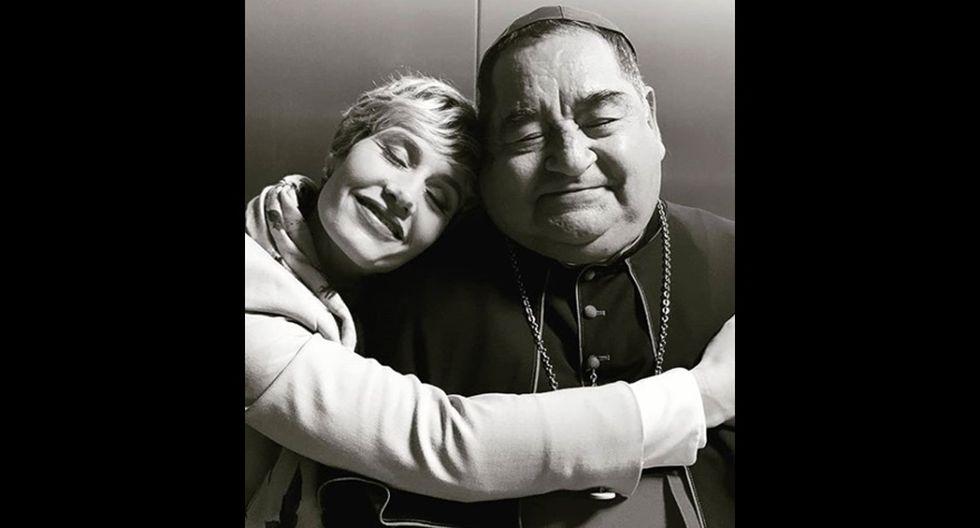"""Ramón García y la actriz belga Cecil de France, con quien compartió plató en """"The New Pope"""". (Foto: Instagram)"""