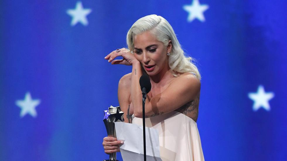 Lady Gaga en los Critics' Choice Awards. (Foto: Agencias)