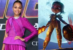 """Zoe Saldaña nos habla de su mayor reto: De ser Gamora en Marvel a interpretar a una heroína latina en """"Maya y los tres"""""""