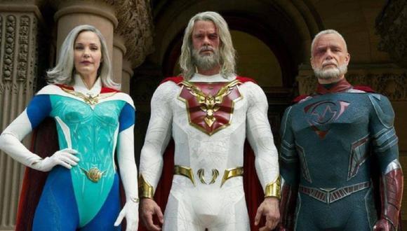 Los miembros de la Unión de Justicia que aún continúan luchando contra los villanos (Foto: Netflix)
