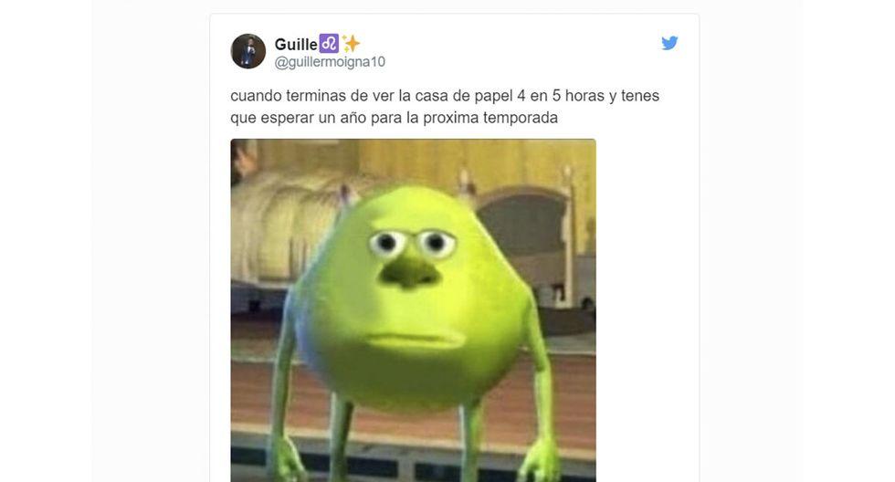 """""""La Casa de Papel"""": memes y reacciones por estreno de la temporada 4 en Netflix (Foto: Twitter)"""