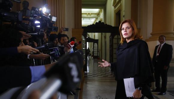 Mercedes Araoz renunció de manera irrevocable a la vicepresidencia el 1 de octubre del 2019. (Foto: Congreso)