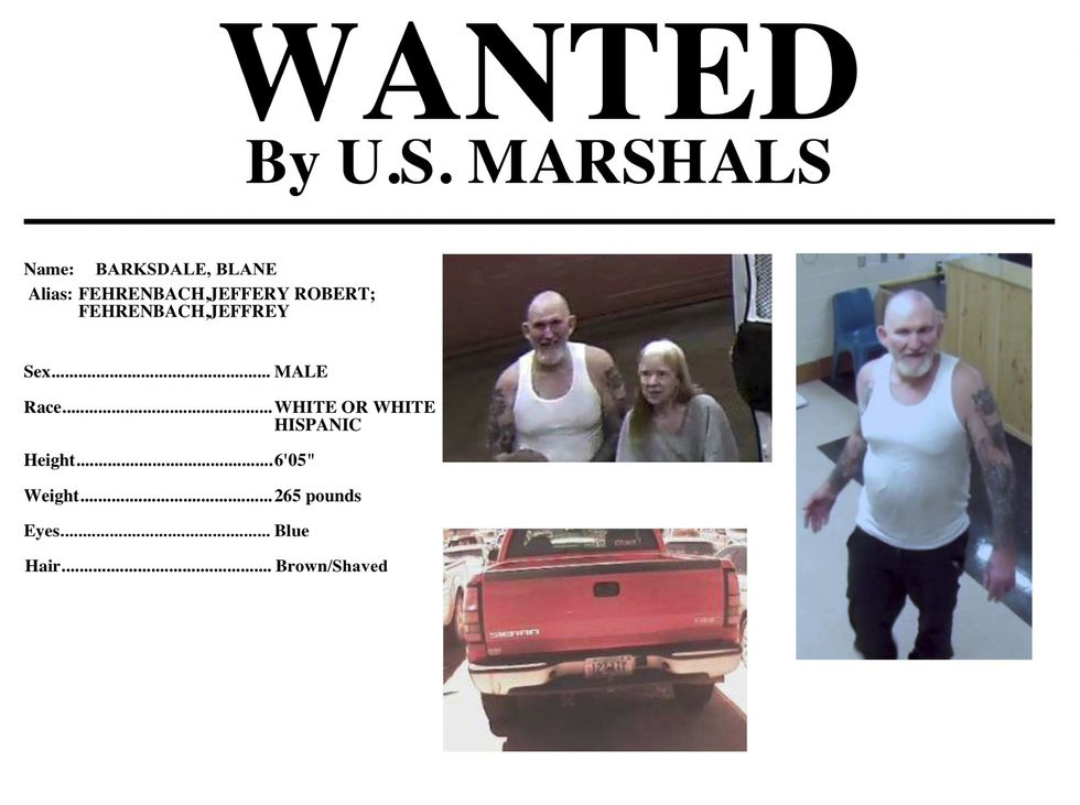 Alerta de búsqueda de los esposos en Estados Unidos. (AP)