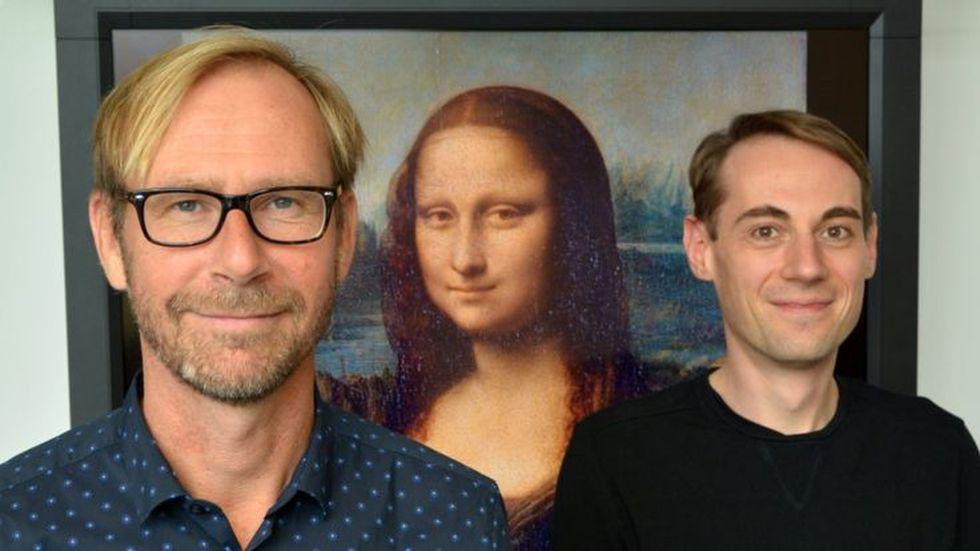 """Los dos investigadores de la Universidad de Bielefeld que desacreditaron el efecto de la mirada de """"La Gioconda"""". (Foto: CITEC / BIELEFELD UNIVERSITY)"""