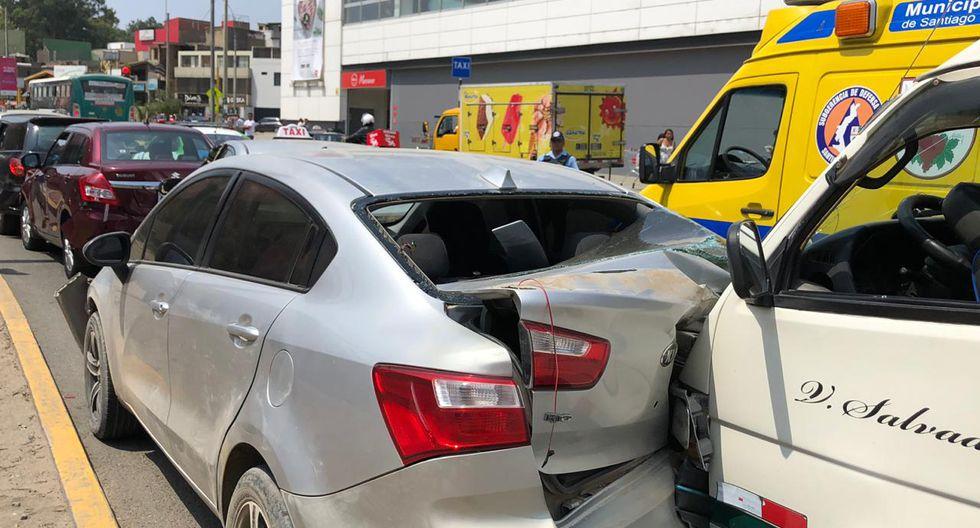 Accidente en la avenida Tomás Marsano (Foto: Claudia Sovero).