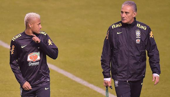 Tite revela que Neymar se encuentra en el mejor momento de su carrera. (Foto: AFP)