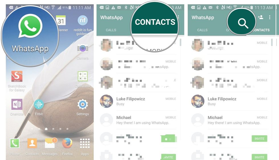 Buscar mensajes en un chat de WhatsApp (Foto: AndroidCentral)