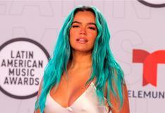 Karol G y el osado outfit que lució en los Latin American Music Awards 2021   VIDEO