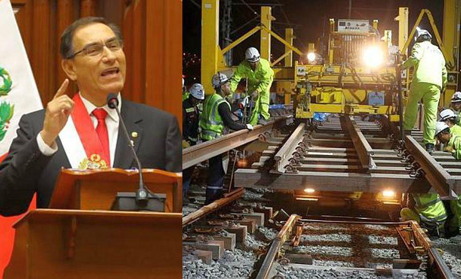 En su mensaje a la Nación, el presidente dijo que también se buscará sacar adelante el Tren de Cercanías en el tramo de Lima-Ica. (Fotos: Andina/USI)