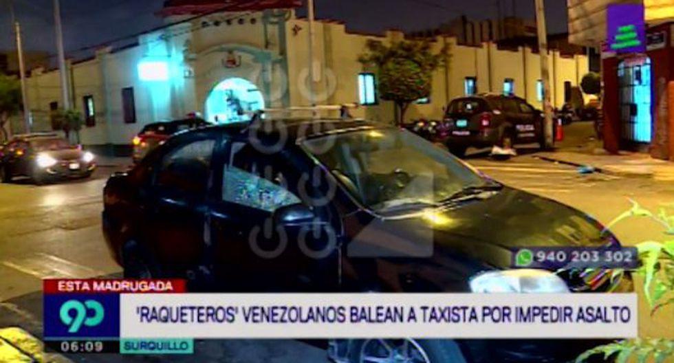 Taxista sufrió un herida por impacto de bala en el tórax. (Captura: Latina)