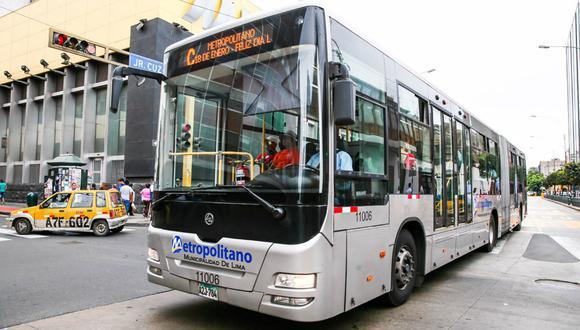 El Metropolitano tendrá que regirse en un nuevo horario desde este lunes 19 de abril. (Foto: Andina)